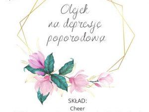 etykieta olejek na depresje poporodową Polska Szkoła Rodzenia w UK