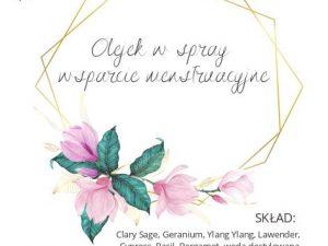 etykieta olejek wsparcie menstruacyjne Polska Szkoła Rodzenia w UK