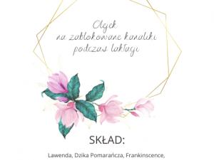 etykieta olejek na zablokowane kanaliki Polska Szkoła Rodzenia w UK