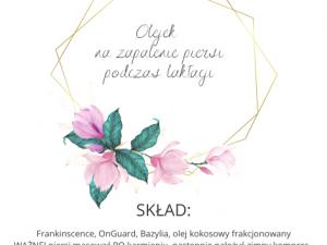etykieta olejek na zapalenie piersi Polska Szkoła Rodzenia w UK