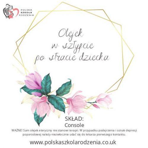 etykieta olejek po stracie dziecka Polska Szkoła Rodzenia w UK